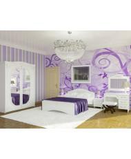 Белый спальный гарнитур Ассоль-7