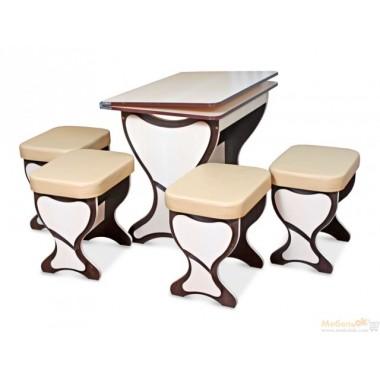 Комплект Феникс (кухонный стол и 4 табурета)