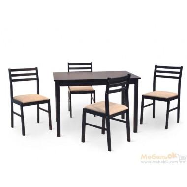 Комплект Пилар стол + 4 стула