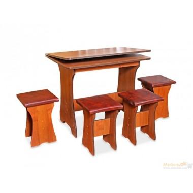 Комплект Оскар (кухонный стол и 4 табурета)