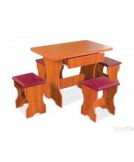 Комплект Омега (кухонный стол и 4 табурета)