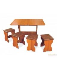 Комплект Арго (кухонный стол и 4 табурета)