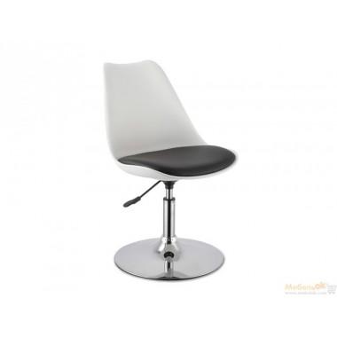 Барный стул Рубен (бело-черный)