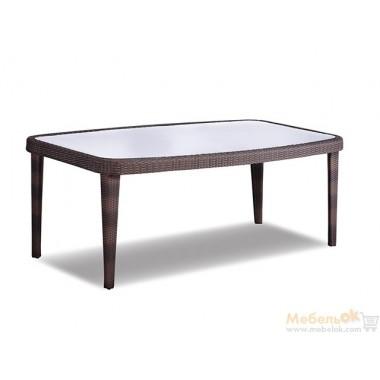 Стол обеденный Devon со стеклянной столешницей