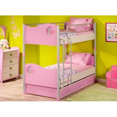 Кровать 2-х ярусная SL PINKY
