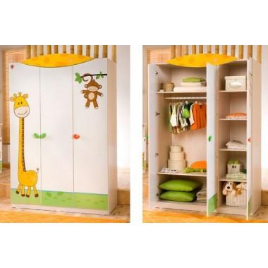 Шкаф 3-х дв. Baby Safari