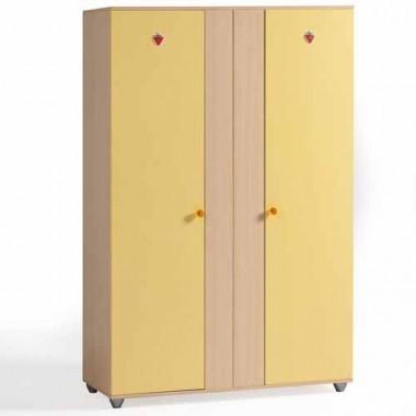 Шкаф 2-х дв. Split Yellow